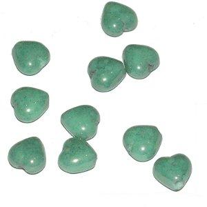 Corazón verde luster 6mm. Bolsa 25 und