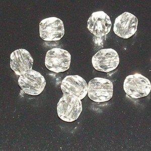 Facetada 4mm cristal. Bolsa 50 und