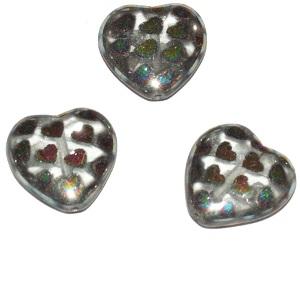 corazón cristal disco 16x15mm. Bolsa 4 und