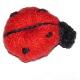 Otros animales piezas crochet mariquita  2x1.5cm