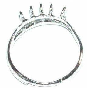 Base anillo 10 anillas plateado. Bolsa 1 und