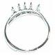Fornitura bases con anillas Anillos 10 anillas plateado
